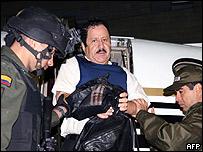 Hernan Giraldo Serna alias El Patrón, poco antes de ser extraditado