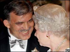 Turkish President Abdullah Gul and the Queen