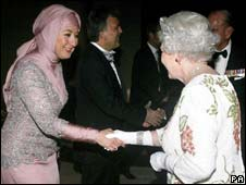 Hayrunnisa Gul and the Queen