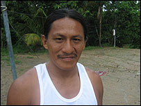 Penti Baihua, representante de la comunidad huaorani en Tig�ino