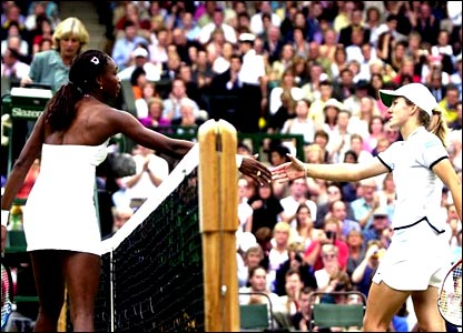 Justine Henin and Serena Williams