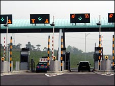 Toll road in Germany
