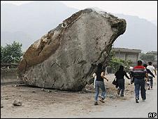 Debris from quake