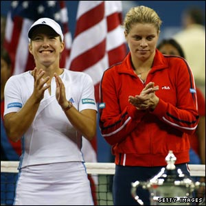 Justine Henin and Kim Clijsters