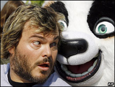 Jack Black with Kung Fu Panda