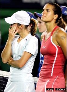 Justine Henin and Amelie Mauresmo