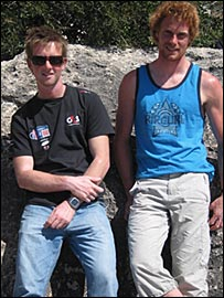 Stevie Morrison (left) and Ben Rhodes