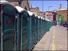 Portaloos in Manchester