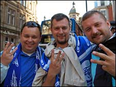 From l to r, Vadim, 32,  Konstantin, 35, Yura 33