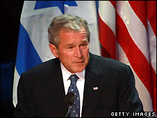 George Bush gives speech in Jerusalem - 14/5/2008