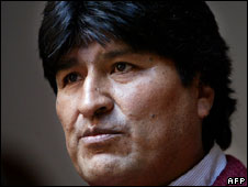 Bolivia's President Evo Morales