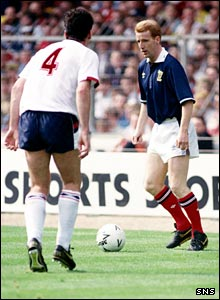 Tommy Burns as a Scotland player