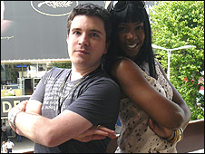 Mark Savage with Kelly Rowland