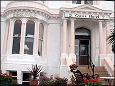 The Oasis hotel before it was decorated