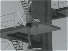 Brian Phelps during his diving heyday