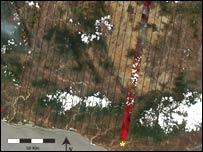 Imagen satelital de Oaxaca (Imagen RIT)