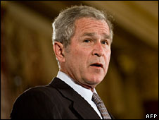 George W Bush in Washington (file image)