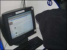 """Fabio"" on his computer"