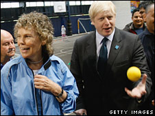 Kate Hoey and Boris Johnson