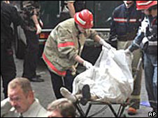 Victim of Moscow market bombing, Aug 2006