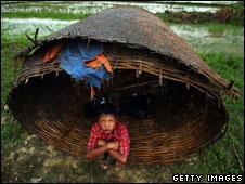 A Burmese child in Dedaya, 13 May 2008
