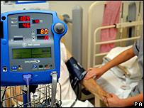 Paciente en el hospital.