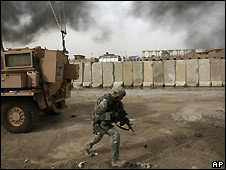 A US soldier in Sadr City, Baghdad, Iraq. File photo
