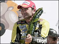 Robert Dunlop is the record winner at the North West 200