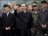 Primer ministro Wen Jiabao (centro)