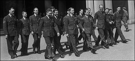 Members of the 617 squadron were honoured after the raid