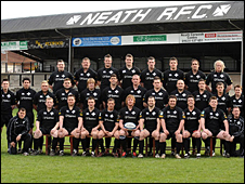Neath squad pictured at the Gnoll