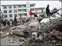 Juyuan Middle School destroyed by the earthquake