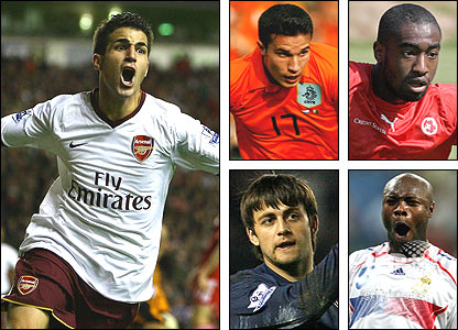 Clockwise from left: Fabregas, Van Persie, Djourou, Gallas, Fabianski