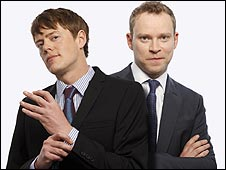 Kris Marshall (left) with Fat Pig co-star Robert Webb
