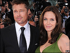 Brad Pitt and Angelina Jolie at the Kung Fu Panda screening