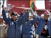 Trabajadores de la empresa nacional de hidrocarburos, YPFB
