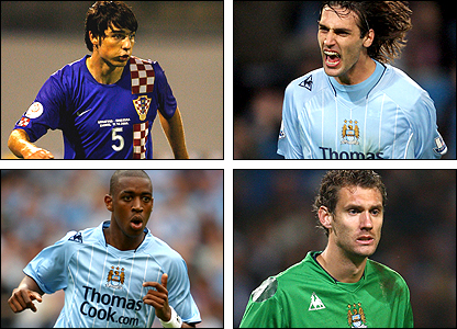 Clockwise from top left: Vedrun Corluka, Georgios Samaras, Andreas Isaksson, Gelson Fernandes