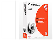 ZoneAlarm website