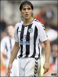 St Mirren defender Franco Miranda