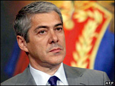 Portugal's Prime Minister Jose Socrates, file pic 13 May, 2008