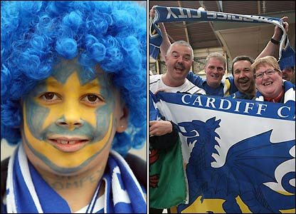 Portsmouth and Cardiff fans head to Wembley