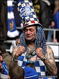 Pompey fan John Anthony Portsmouth Football Club Westwood