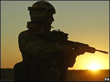 Black Watch soldier in Iraq