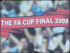 FA Cup Final 2008 banner