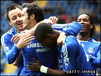 John Terry, Ricardo Carvalho, and Didier Drogba