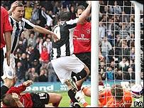 Chris Dagnall scores Rochdale's opening goal