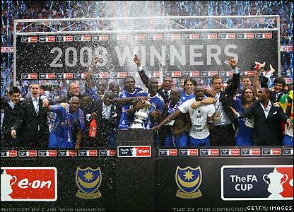 Portsmouth celebrate victory