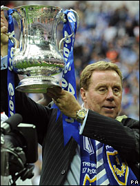 Harry Redknapp lifts the FA Cup
