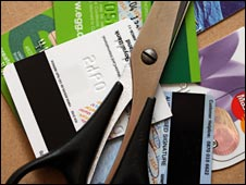 Credit cards and scissors