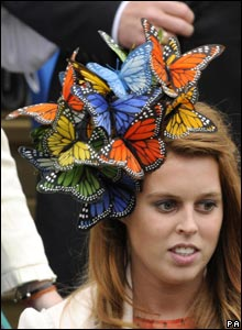 Princess Beatrice in butterfly hat